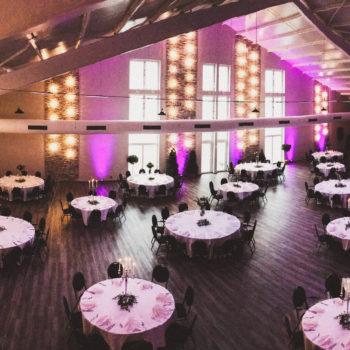 aqualux Wellness und Tagungshotel Bad Salzschlirf Eventhalle eingedeckte Tische 4